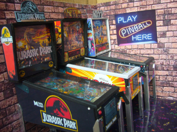 Jurassic Park  1/12th Scale Miniature Pinball Table Model